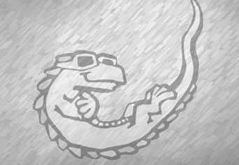 falling lizard 2